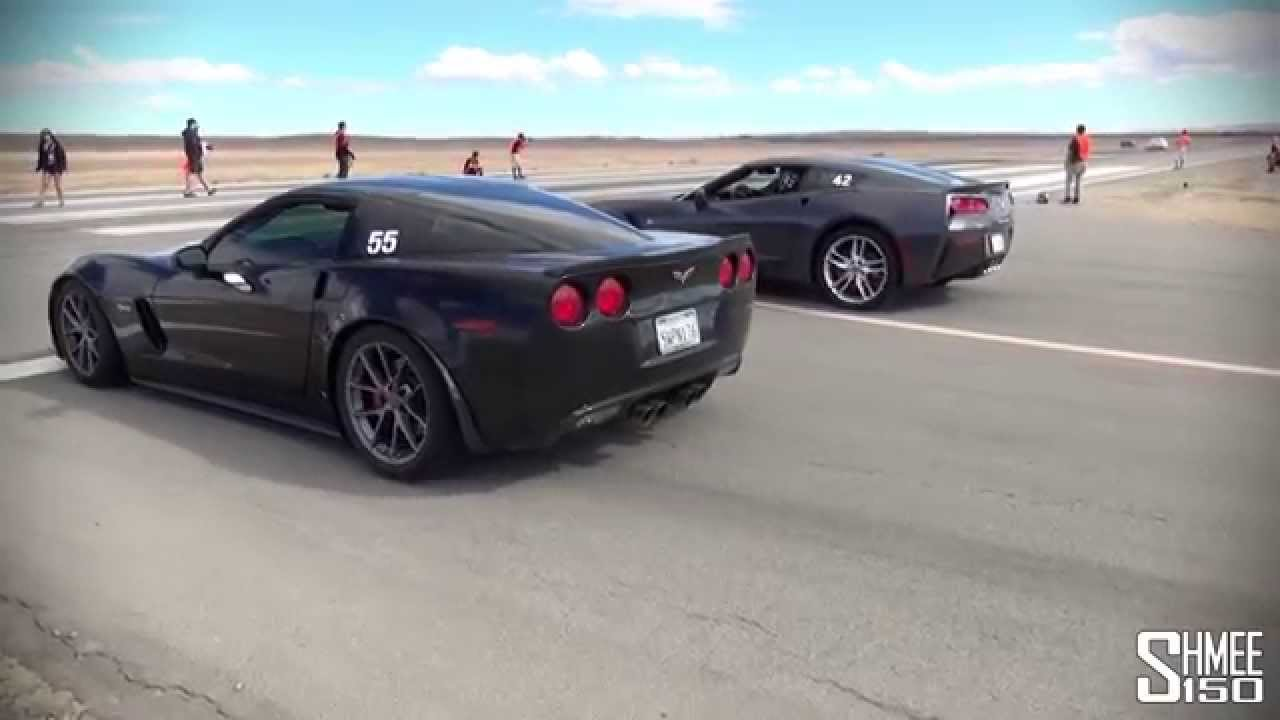 C7 Z06 Wheels On C5 >> Corvette 630hp C7 Stingray vs 505hp C6 Z06 - Shift S3ctor - YouTube