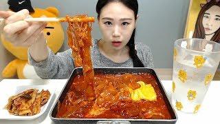 치즈토핑한 중국당면볶음 먹방 Mukbang