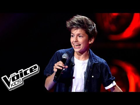 "Antek Scardina – ""CAN'T STOP THE FEELING!"" – Przesłuchania w ciemno – The Voice Kids Poland"