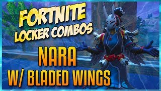 FORTNITE LOCKER COMBOS: NARA W/ BLADED WINGS | REAPER SCYTHE | PAPER PARASOL | GLITCH IN THE SYSTEM!