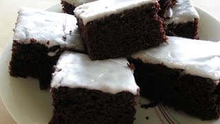 Mad i trin // Chokoladekage m. Hvid glasur // cooking step by step