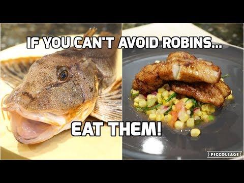 Catch And Cook: Sea Robin (Gurnard) W/Roasted Corn Relish!