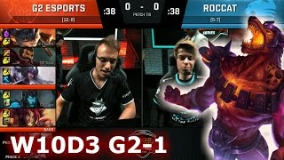 Video G2 eSports vs ROCCAT | Game 1 S7 EU LCS Spring 2017 Week 10 Day 3 | G2 vs ROC G1 W10D3 download MP3, 3GP, MP4, WEBM, AVI, FLV Agustus 2018
