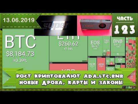 Рост LTC, BNB, ADA Закрытие двух бирж, новые Super видеокарты, драйверы и новые законы о крипте