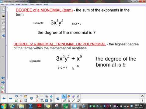 Alg: Classifying, Adding and Subtracting Polynomials (u9 d1 notes)