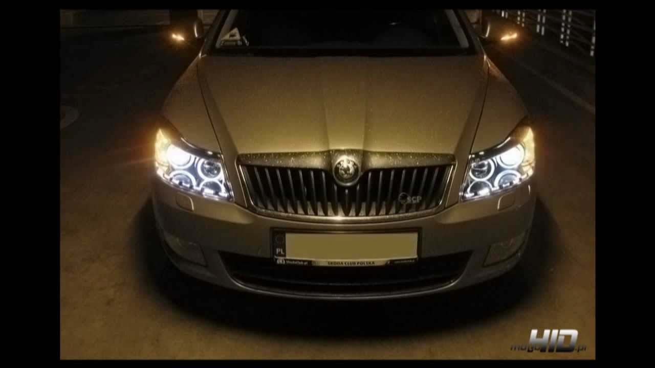 skoda octavia 2 fl 2008 headlight led angel. Black Bedroom Furniture Sets. Home Design Ideas