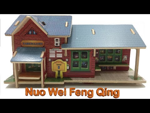 Robotime 3D Wood Craft Construction Kit DIY, Assembly the Nuo Wei Feng Qing