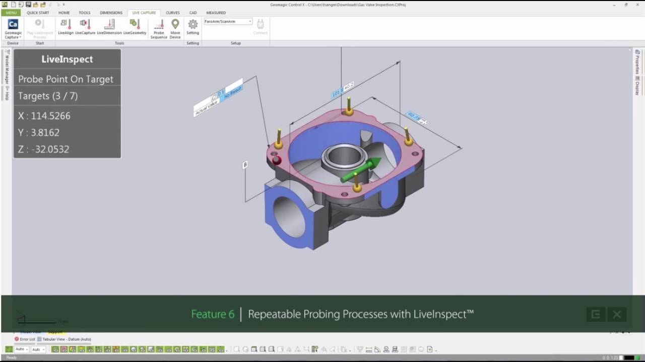 Geomagic Control X 3D Inspection Software | GoMeasure3D