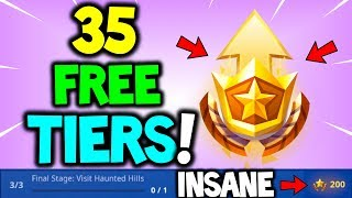 *NEW* GET FREE 35 TIERS CHALLENGE! For Season 6 BATTLE PASS - FORTNITEMARES CHALLENGES PART 3 GUIDE!