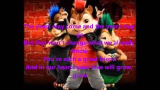 Chipmunks - Happy Birthday [canción completa + lyrics]