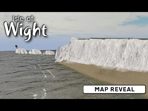 Map Reveal - Cities: Skylines: Isle of Wight - UK build - YouTube on