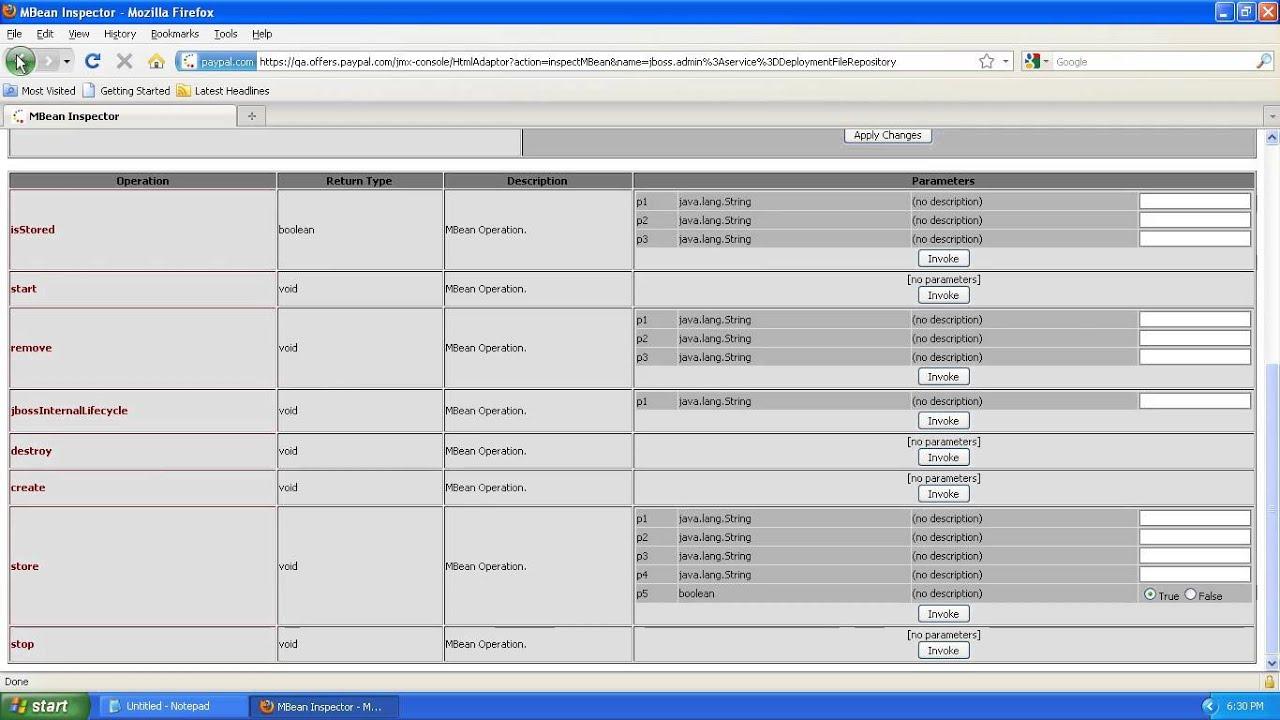 Paypal - JMX Web Console Access