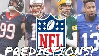 2016-17 NFL Season Predictions - Win-Loss Projections, Playoffs, Super Bowl 51, Awards, and More