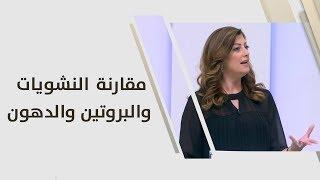 مقارنة النشويات والبروتين والدهون - رزان شويحات