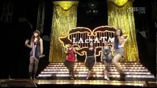 [HD] 090906 f(x) 出道舞台 - Intro+LA chA TA