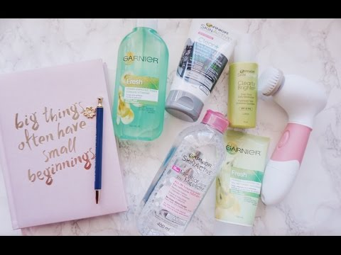 Garnier Skin Care Routine ft. Vanity Planet | For Combination Skin | Ashley Bloomfield | Sponsored