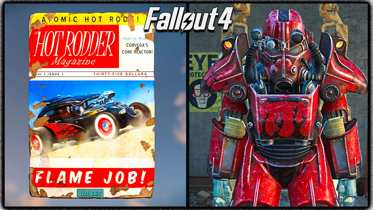 "Hot Paint fallout 4 - ""hot rod flames"" power armor paint + 3 easy locations"