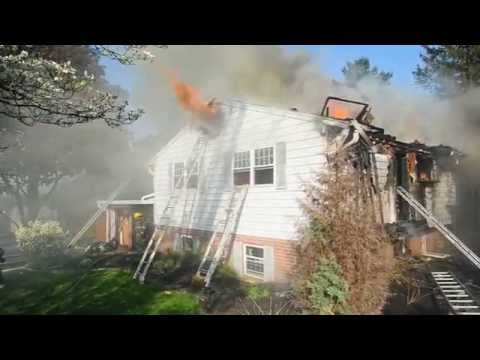 Raw video: Pa. house fire