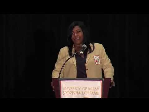 Chanivia Broussard acceptance speech - 2018 UM Sports Hall of Fame banquet
