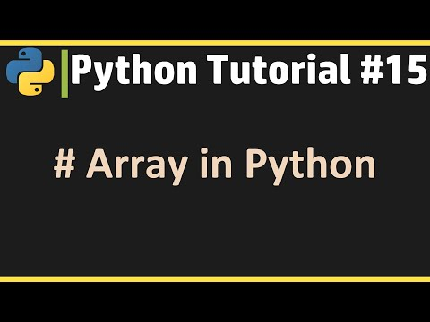Array in Python - Python Tutorial #15 thumbnail