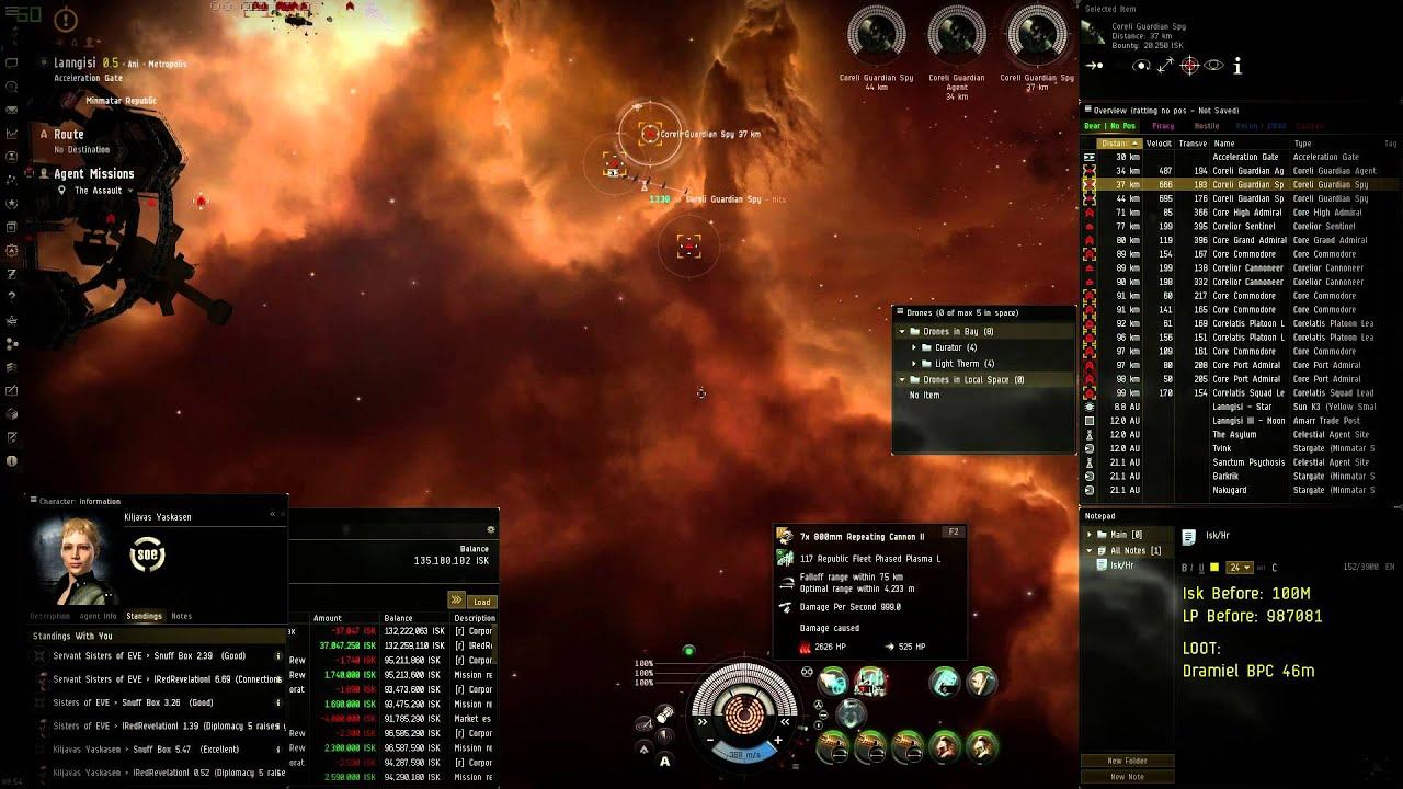 Level 4 Mission Blitz 200m ISK/Hr