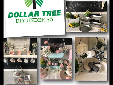 DOLLAR TREE🌳 2 TIERED DIYS FOR ALL YOUR DECOR UNDER $3 DOLLARS😱 4-15-19