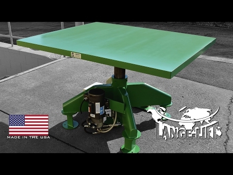 Floor Mounting Electric Powered Lift Table | 1,000 Pound Capacity