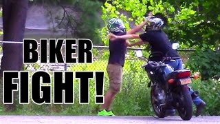 Stolen Motorcycle Fight