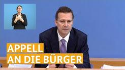Regierungssprecher Steffen Seibert: Appell an die Bürger