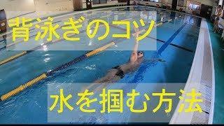 【水泳】【背泳ぎ】水が引っかかるようになる手の入水方法!