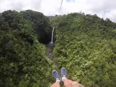 Big Island Zip Line over Waterfall