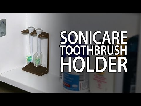 3D Printing: Sonicare Toothbrush Holder from Thingiverse