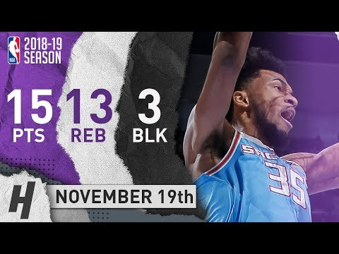 Marvin Bagley III Full Highlights Kings vs Thunder 2018.11.19 - 15 Pts, 13 Reb, 3 Blocks!