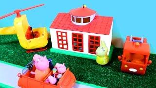 Свинка Пеппа Джордж и Пеппе едут встречать бабушку свинку Мультфильмы для детей