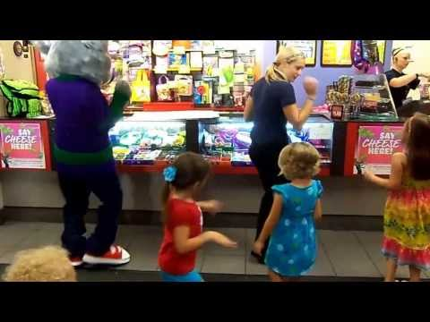 Cupid Shuffle with Chuck E Cheese