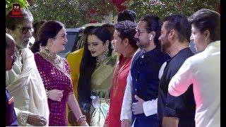 Bollywood Celebs Arrives At Mukesh Ambani Visit Ganpati With Salman , Shahrukh,Aamir,Amitabh,Rekha