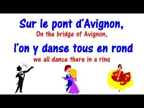 Sur le pont d'Avignon + Lyrics - Learn French Song