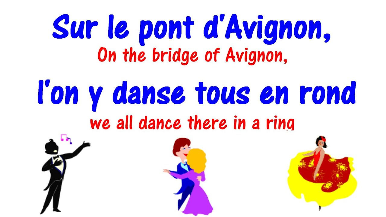Sur Le Pont D Avignon Lyrics Learn French Song