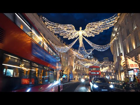 London's Regent Street Christmas Lights 2020 ✨ 'The Spirit of Christmas' Angels Walk