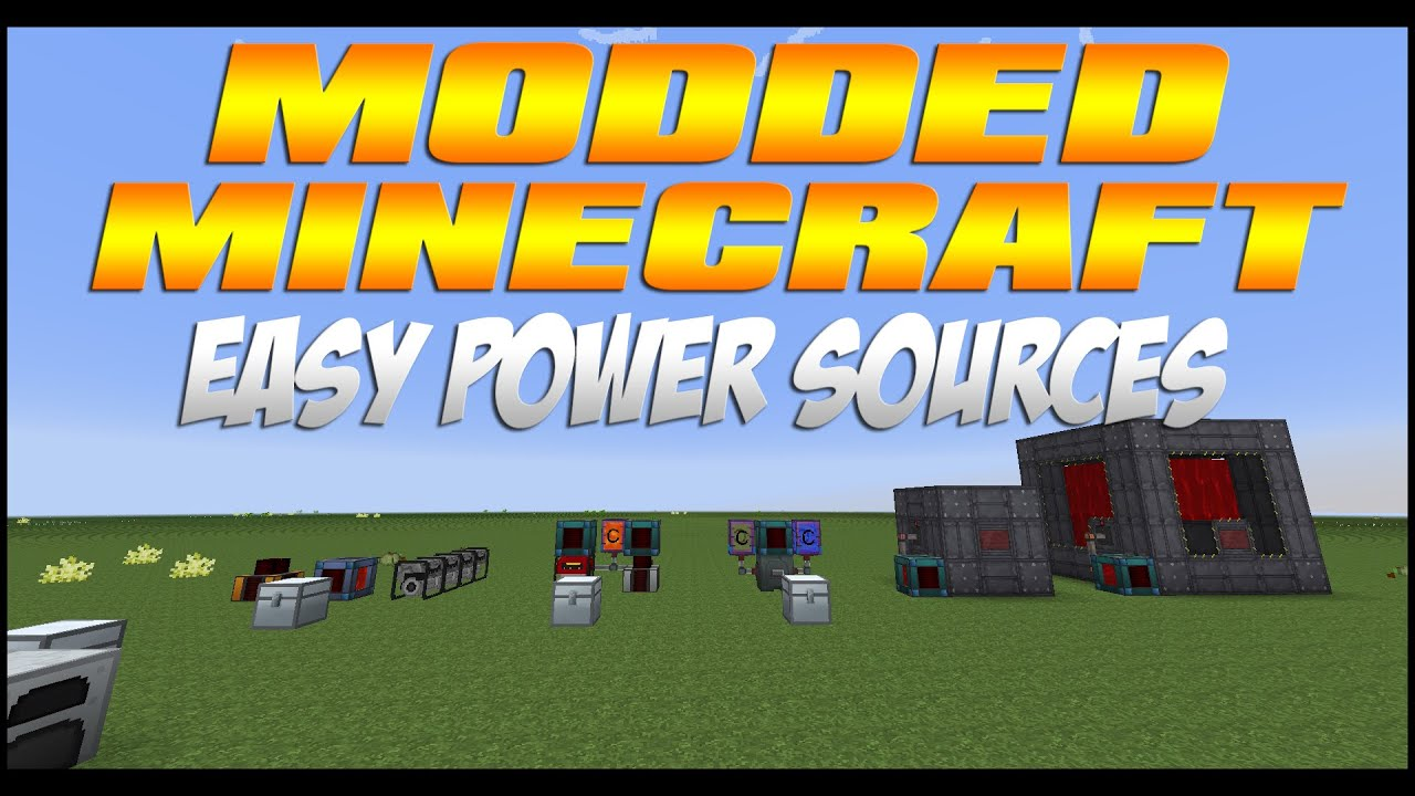 Modded Minecraft Best Starter Power Sources Updated For 1 7 10 Youtube