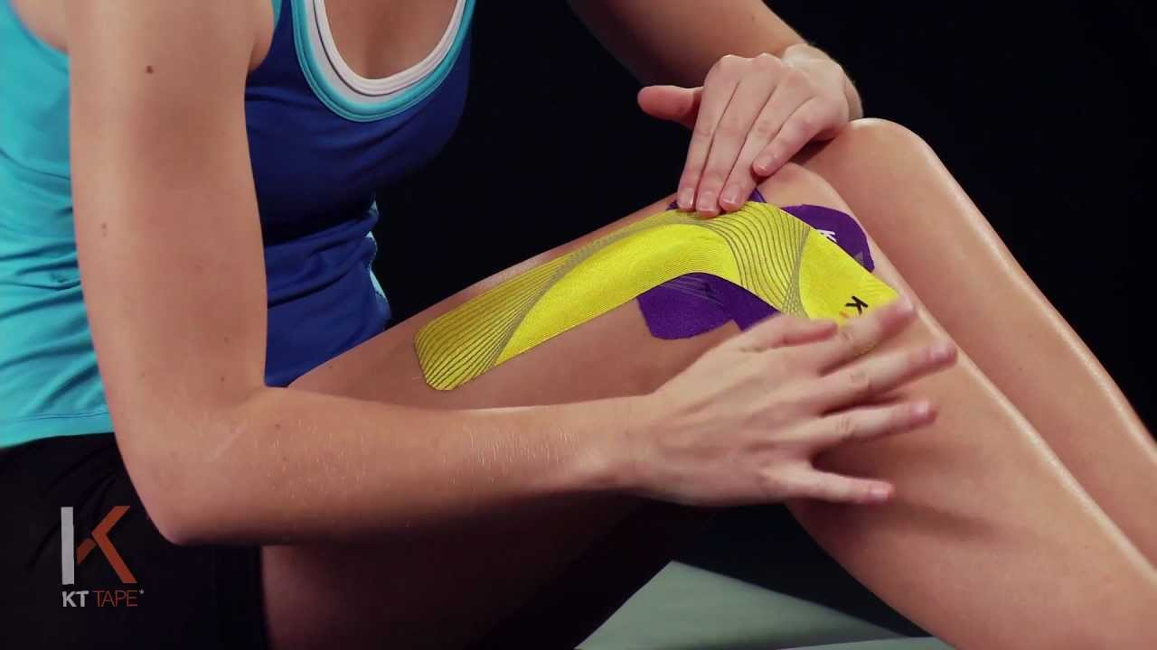 Kt tape outer knee funnycat tv for Exterior knee pain