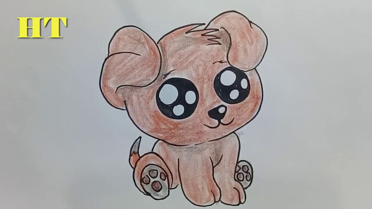 How To Draw A Cute Puppy