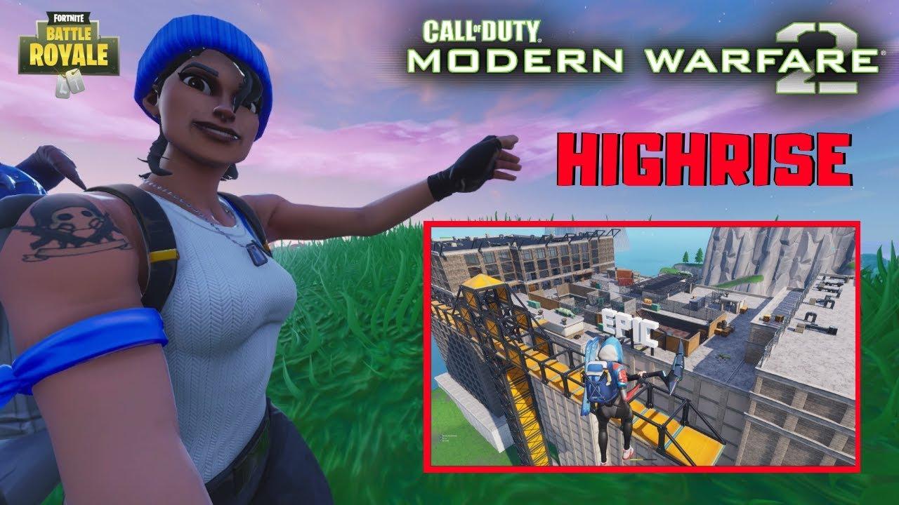 mw2 highrise in fortnite w code sniper match fortnite creative - fortnite call of duty maps codes