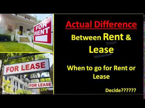Lease Vs Rent >> Lease Vs Rent Hindi
