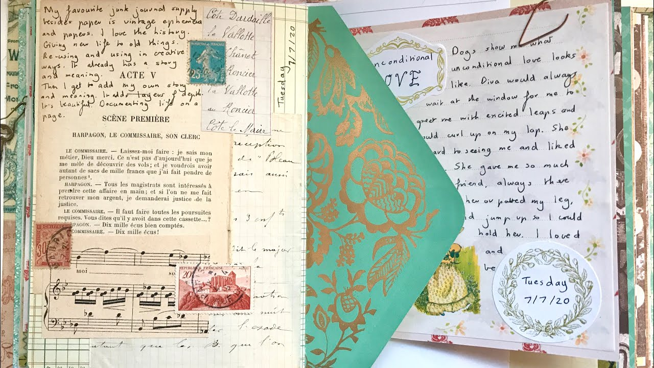 Junk journal with me: Vintage journal (Ep. 5)