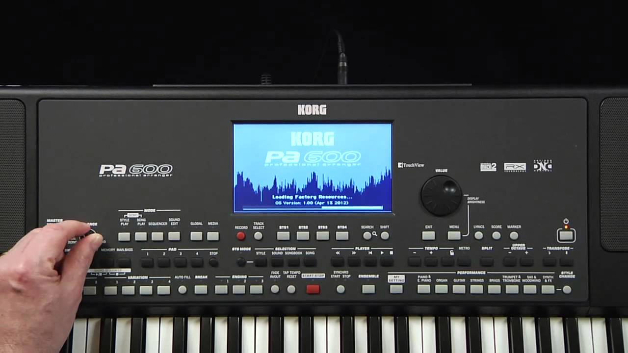 korg pa600 video manual part 1 introduction and navigation youtube rh youtube com Korg Keyboard Power Cords Korg Kronos X 88