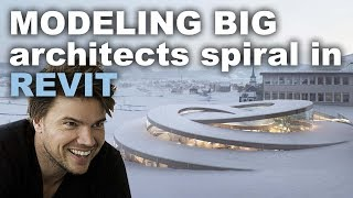 Modeling BIG architects Spiral in Revit