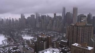 VIDEO: Eerie New York City skyline during nor'easter snowstorm