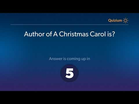 Author of A Christmas Carol is?   Books and Authors Quiz