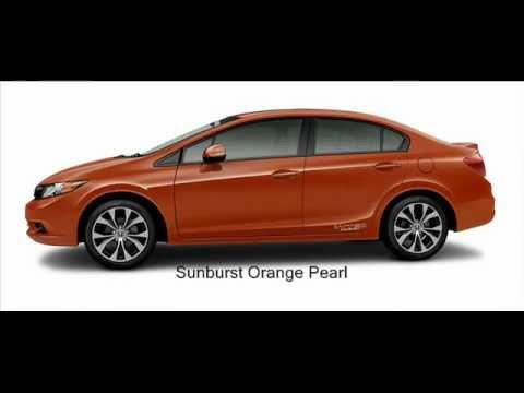2012 Honda Civic Si Sedan Colors Youtube